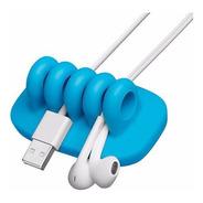 Organizador De Cables Para El Escritorio Cordies Azul