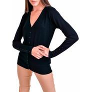 Cardigan Básico Sweater De Mujer Con Botones - Proactivashop