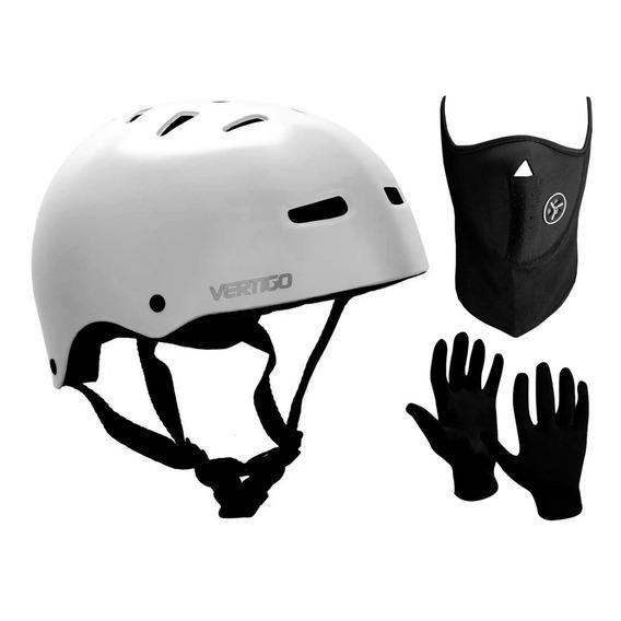 Casco Bicicleta Skate Rollers Vertigo Vx + Guantes+mascara C