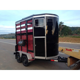 Trailer Reboque Transporte Dois Cavalos Luxo