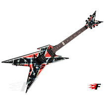 Dean Dimebag Darrell Rebel Floyd Rose Com Case