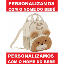 Mochila Infantil Personalizada Ursinho Menino - Bebê - G