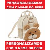 Mochila Infantil Personalizada Ursinho Menino - Escolar - G