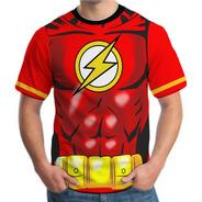 Camiseta Camisa Masculina Roupas Herois Flash Vingadores 3d