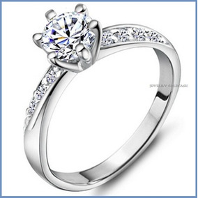 Anillo De Compromiso Diamante Natural .15ct Oro 10k -50% 002
