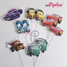 Toppers Para Cupcakes Pinchos Cars