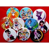 10 Pines Prendedores Colección Sailor Moon - Manga Anime