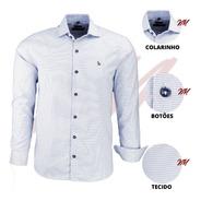 Camisa Masculina Amil Tecido Top Com Detalhes Luxuosos 1670