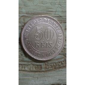 50 Reis De 1871 Banhada A Cuproníquel Rosa