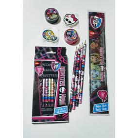 Monster High - Kit Material Escolar - 10 Itens - Tris