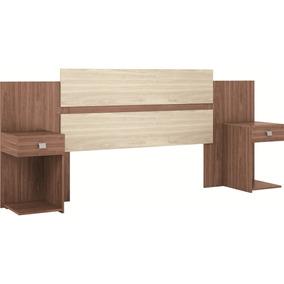 Cabeceira Casal Box Com 2 Criados 1,38m 7220a Móveis Castro