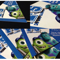Invitacion De Monsters University Super Original