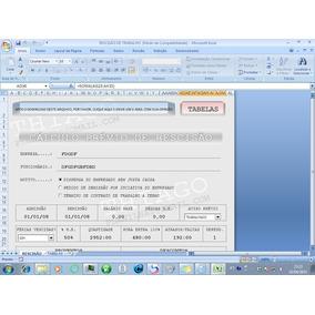 Planilha Para Cálculo De Rescisão De Contrato-de Trabalho