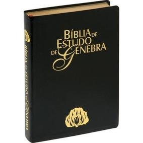 Bíblia De Estudo Genebra Grande Luxo Preta