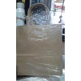 Bolsa Carton Kraft 22x10x30 X100unid