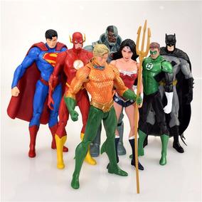 Liga Justica Dc Universe Batman Super Man Flash Lote C/7