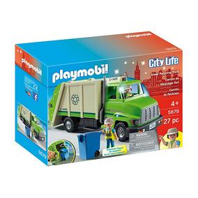 Playmobil 5679 Camion De Reciclaje Recolector De Basura