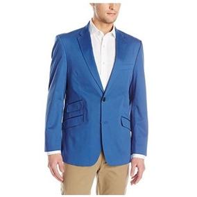 Blazer Tommy Hilfiger (dorsey Cotton) Azul 42 L 100%original