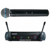 Micrófono Shure Inalámbrico Estuche Profesional Pgx24/beta58