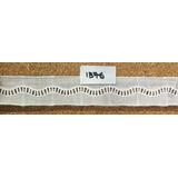 Puntilla Broderie De 3cm, Escalera Ondas, Blanco X 15 Yardas