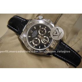 91aa2ece809 Rolex Daytona Ceramic Marrom Gold Couro Replica Perfeita De Luxo ...