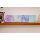 Obras De Arte Abstracto - Pintadas A Mano - Combo 4 Piezas