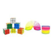 Brinquedo Para Prenda 15 Cubos Mágico + 15 Molas Maluca