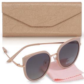 Oculos Sol Feminino Gatinho Lente Polarizada Estojo Grátis