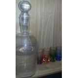 Set Para Licor Botella Hielera Con Tapon Y Vasitos De Color