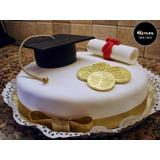 Torta Decorada A Pedido!! Egresados, Comunión, Cumpleaños!!