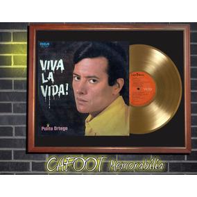 Palito Ortega Viva La Vida Tapa Lp Y Disco Oro Enmarcado