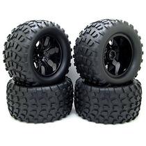 4x 130mm 1/10 Rc Monster Truck Bigfoot Neumáticos Neumáticos