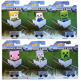 Juguete Hot Wheels 2016 Exclusivo Minecraft Minecar 6-car S