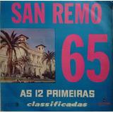 B2 Lp Disco Vinil San Remo 65 As 12 Primeiras Classificadas
