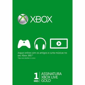 Live Gold 1 Mês Xbox 360 E One Br Usa Eu - Código 25 Dígitos