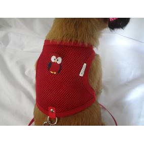 Peitoral Guia Coleira Pet Cachorro Pequeno Colete Regulavel.
