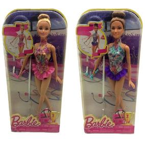 Kit Bonecas Barbie Ginasta Ritmica Mattel : Loira + Morena