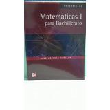 Matemáticas I. Cuéllar Juan Antonio