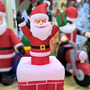 Papai Noel Inflável Sobe E Desce Na Chaminé Elétrico Bivolt
