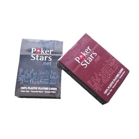 Baralho Poker Stars - 1 Unidade C/52 Cartas - 100% Plástico