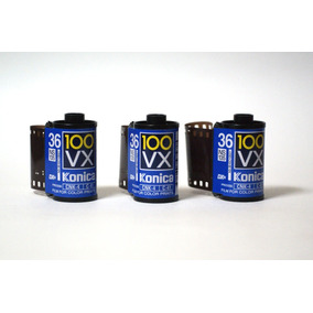 3 Rollos 35mm Konica Vx Pelicula Negativos Color Fotografico