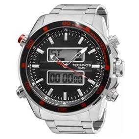 Relógio Technos Masculino Dual Time 0527af/1p + Nf-e
