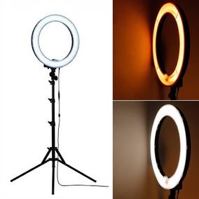 Iluminador Led Ring Light 12 Circular Rl-12 + Tripé Fv803 2m