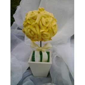 Topiaria De Rosas Em Eva(10 Unidades)