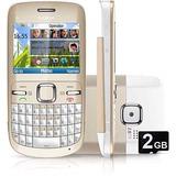 Celular Nokia C3 Dourado Com Câmera 2mp, Qwerty Vitrine