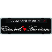 Lembranca De Casamento, Placa De Carro Personalizada Logo