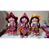 Adornos Decorativos Tejidos De Cholitas Y Cholitos Con Silli