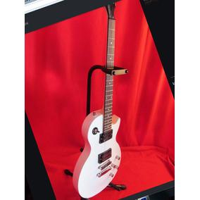 Guitarra Parquer Les Paul Lp100 White Canje Envio Tarjetas!