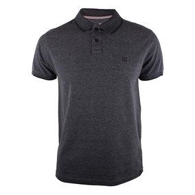 764a316de675e Camisa Polo Rip Curl Classic Logo - Chumbo Mescla