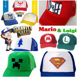 Gorra Trucker Pokemon,duff, Mario Y Luigi, Superman. Gravity